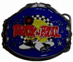 Rock n Roll Shoes Belt Buckle with display stand